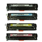Remanufactured HP CP1215, CP1515, CP1518 4-Color Laser Toner Set