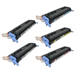 Remanufactured HP 1600, 2600, 2605 5-Pack Toner Cartridge Set