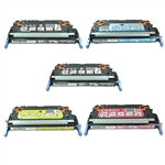 Remanufactured HP Color LaserJet 3600 5-Pack Laser Toner Cartridge Set