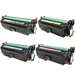 Remanufactured HP 652A, 654A 4-Color Laser Toner Cartridge Set