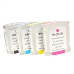 Remanufactured HP 940XL 4-Color Ink Cartridge Set