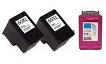 Remanufactured HP 60XL High Capacity Ink Cartridges Set of 3
