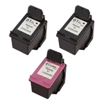Remanufactured HP 61XL 3-Pack Ink Cartridge Set