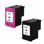Remanufactured HP 63XL Black and Tri-color Ink Cartridge Set of 3 (F6U64AN, F6U63AN)