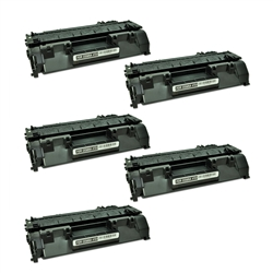 HP CE505A (05A) Black Compatible Toner Cartridge 5Pack