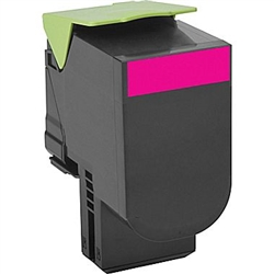 Lexmark 80C1HM0 High Yield Magenta Toner Compatible Cartridge