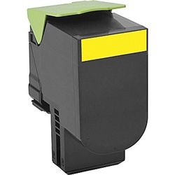 Lexmark 80C1HY0 High Yield Yellow Toner Compatible Cartridge