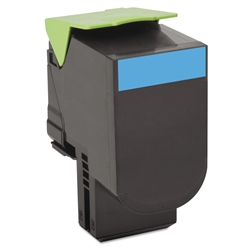 Lexmark 80C1XC0 Toner Extra High Yield Cyan Compatible Cartridge
