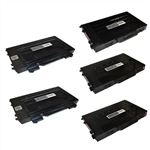 5-Pack Compatible Laser Toner Set for Samsung CLP-510